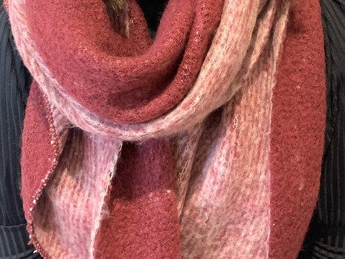Plum/pink reversible scarf