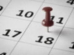 calendar with pin
