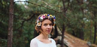 svatební věneček flower crown nevěsta