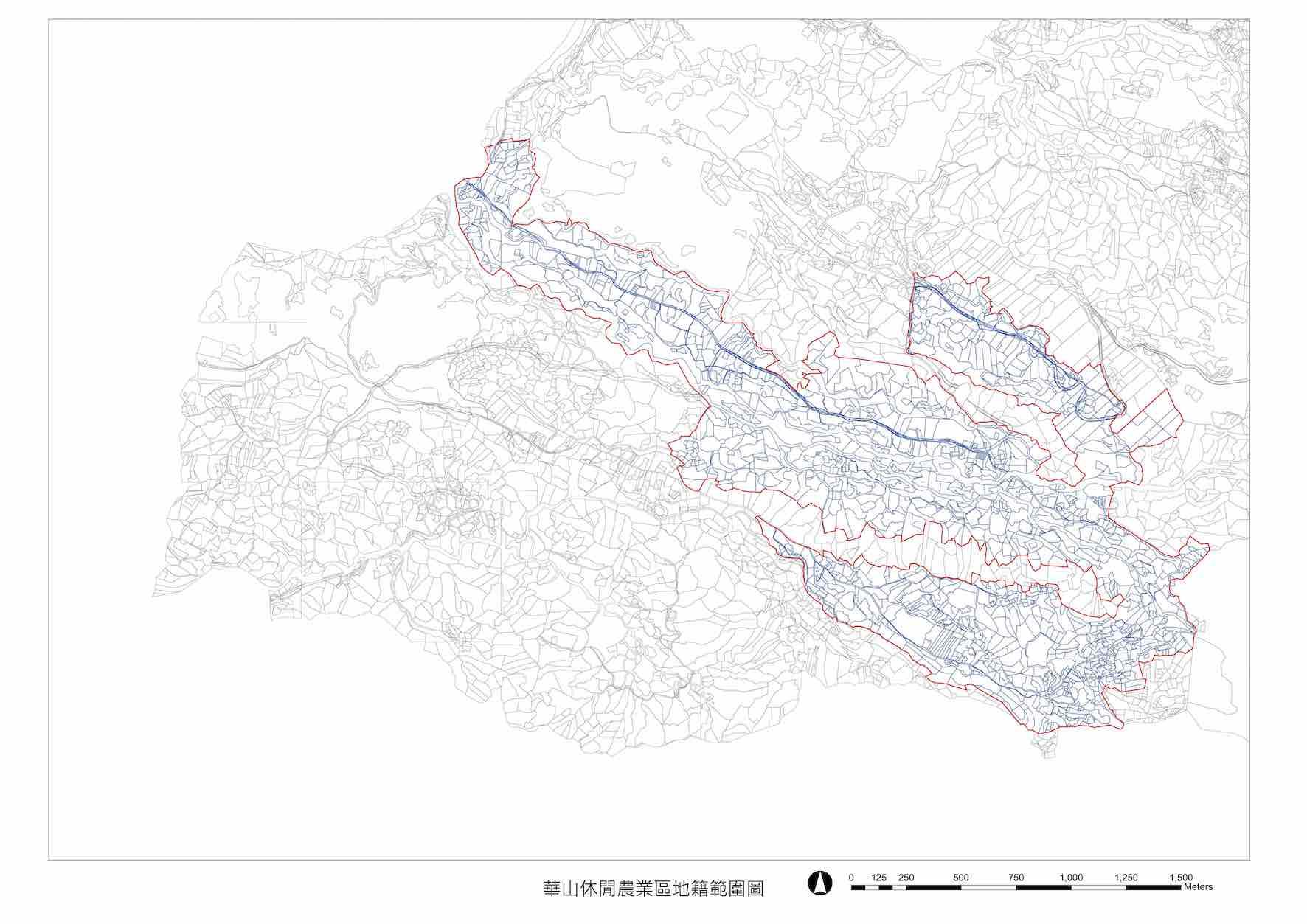 華山休閒農業區地籍範圍