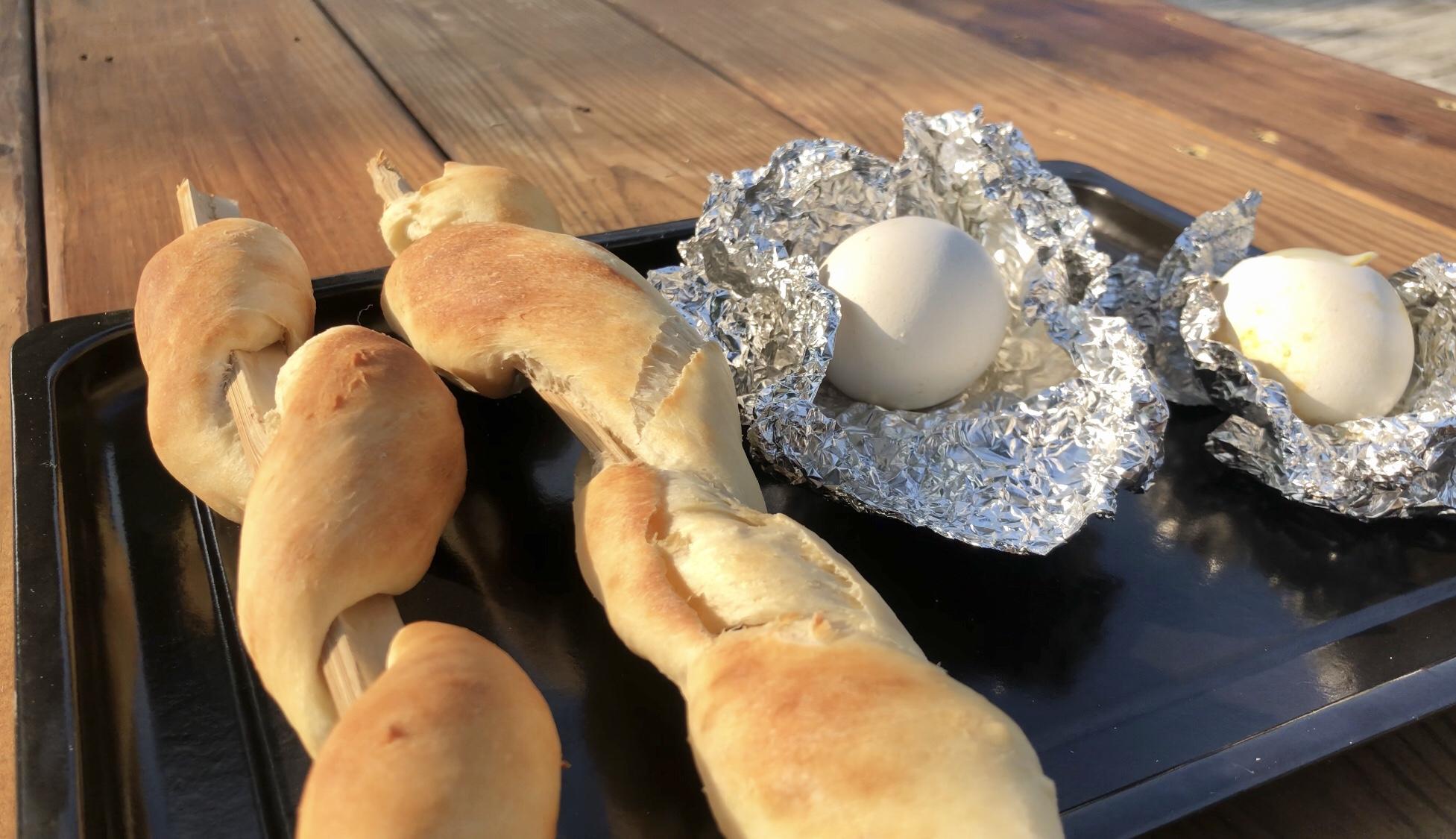 烤蛇麵包|烤爆蛋