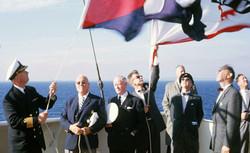Flag ceremony, 1963, Anders Wilhelmsen #2 from left
