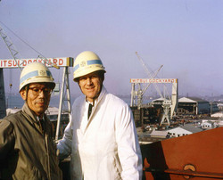 Arne Wilhelsmen at Mitsui Dockyards 1960s