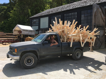 Before we could really get stuck into this job on Vancouver Island we had to knock up a truck load of trestles