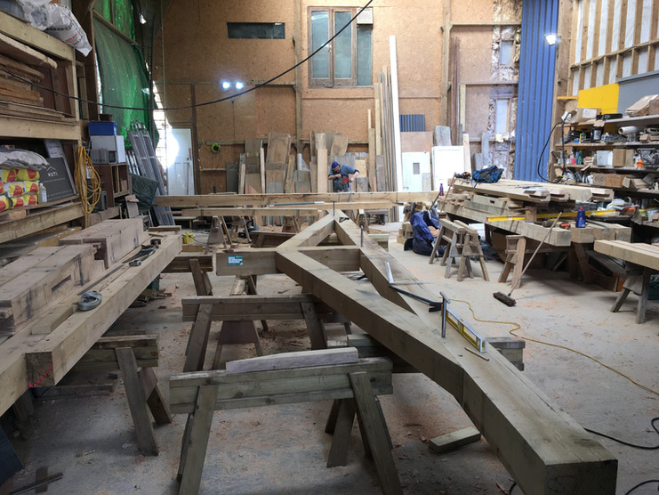 Some timber frames are nice and simple, like this one which is heading to Falmouth.