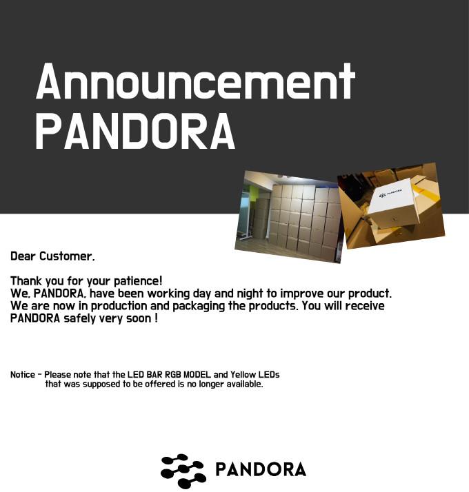 Announcement PANDORA