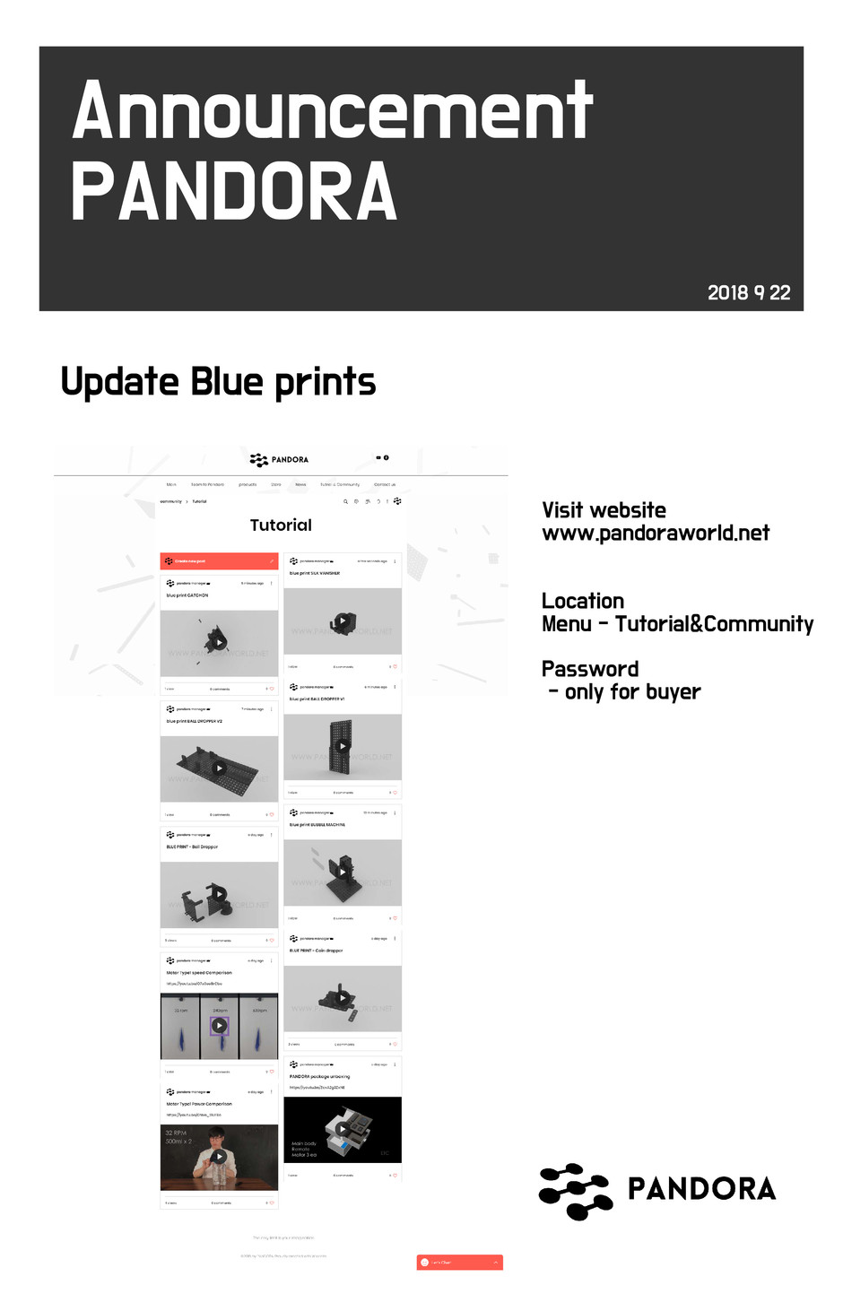 UPDATE BLUE PRINTS