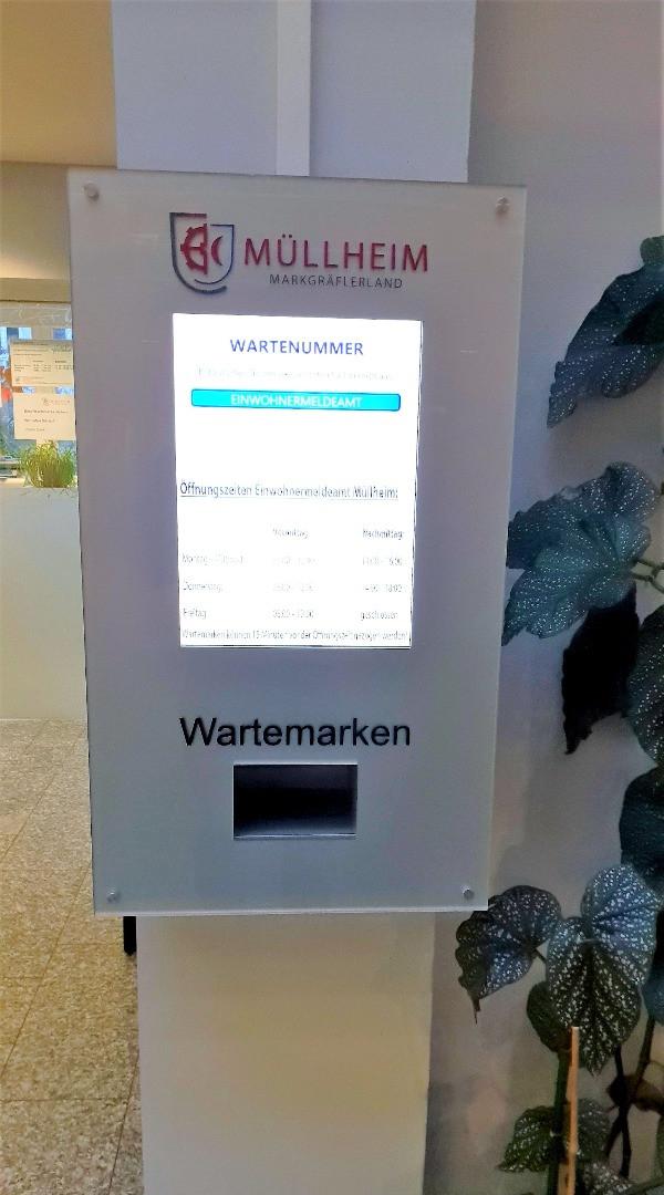 Stadt Müllheim Wartemarkendrucker