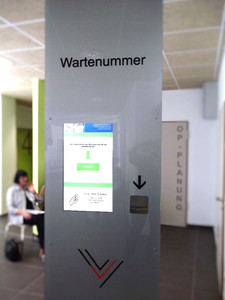 Vulpius Klinik Wartemarkendrucker