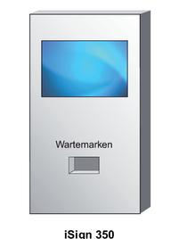 Wartemarkendrucker Wandmontage Standard