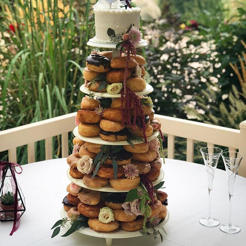 In LOVE with this donut cake and the #br