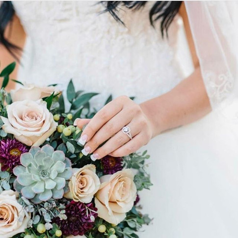 Summer bouquets with a rich deep pop of