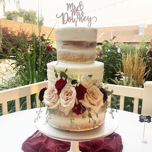 Another gorgeous barely naked cake with