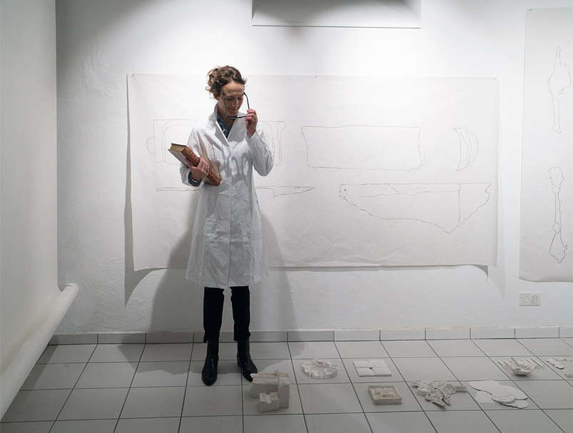 The Victim is Present, Performance, shown in the art gallery Chelebüel, Muri, January 2016