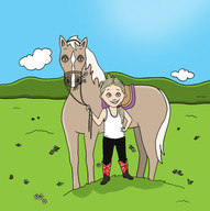 Vail and her horse