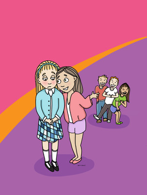 Anti-bullying illustration for The Kindness Club  © Friends of Vail Foundation