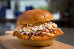 Social Eatery_crispy chicken on bun
