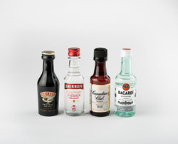 Swoop_mini liquor bottles