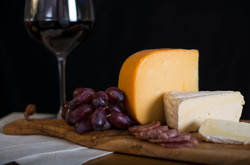 wine and cheese cutting board