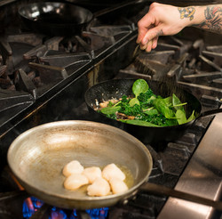 Rodneys_scallops in kitchen