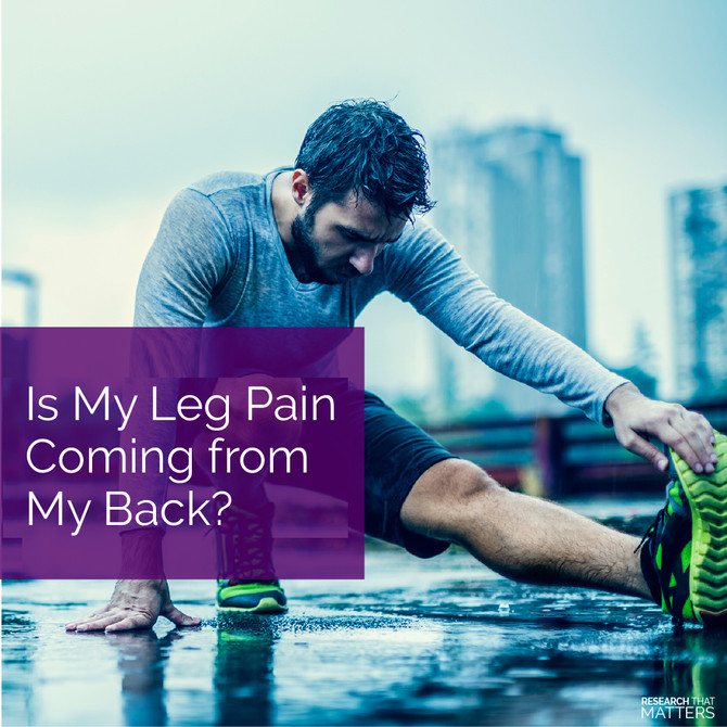 Is My Leg Pain Coming from My Back?