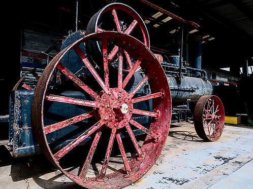 """""""Red Wheels Of Steel"""" Prints"""