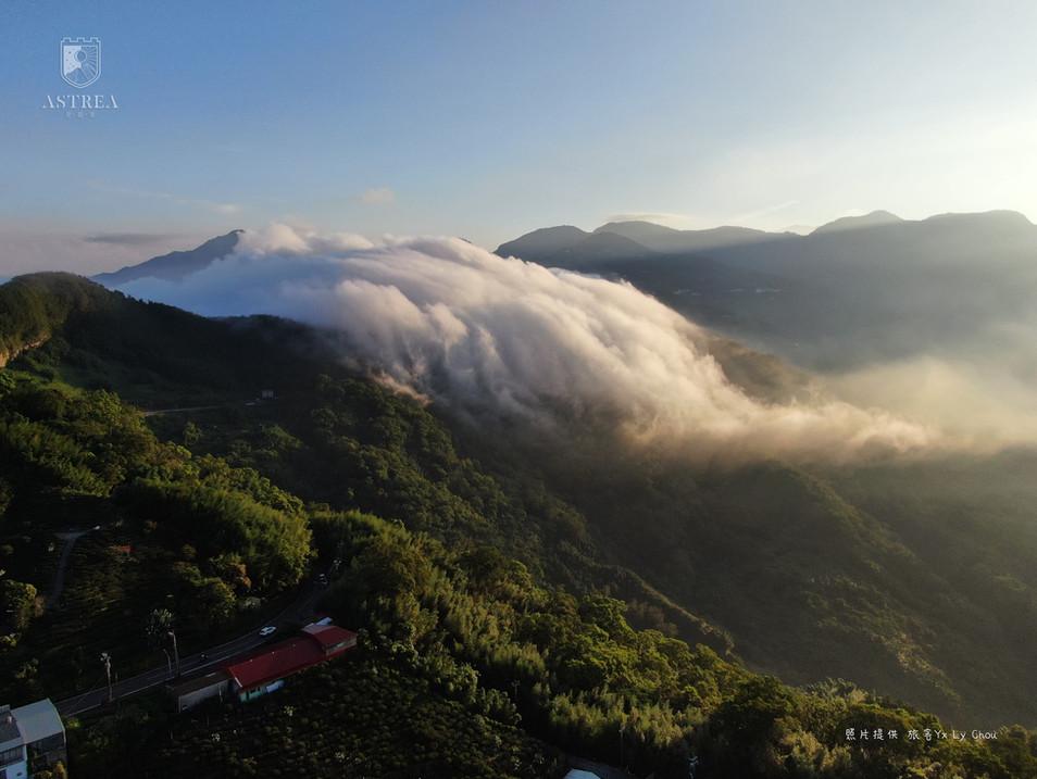 感謝旅客提供空拍照-阿里山公路雲海