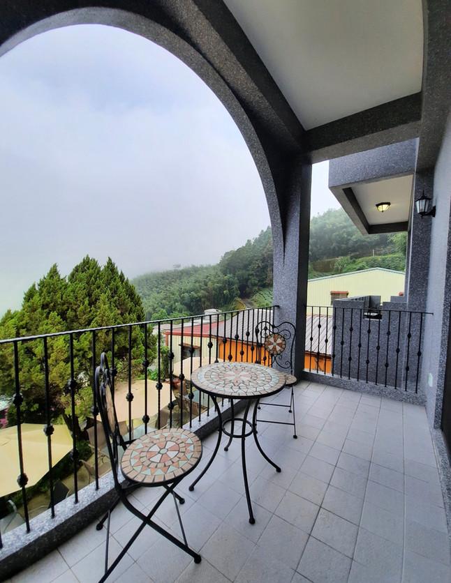 阿波羅景觀雙人房陽台