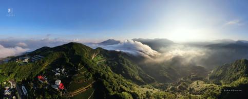 感謝旅客提供空拍照-巃頭山全貌