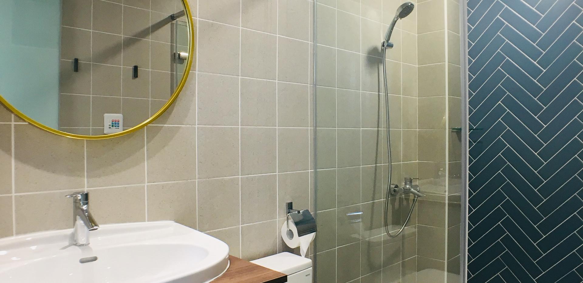 波塞頓雙床房浴室