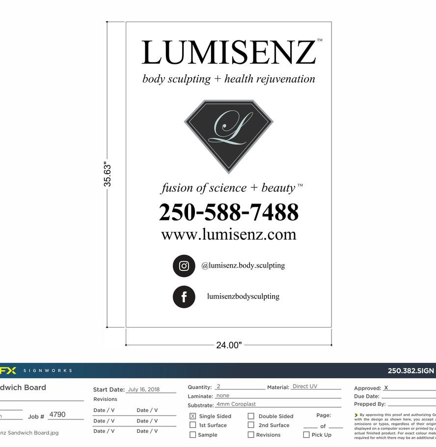 Lumisenz Sandwich Board Signs_FXgraphics