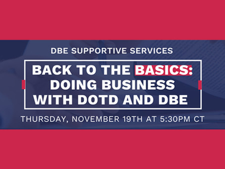 Webinar: Doing Business with DOTD and DBE Program Certification