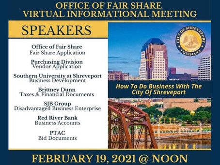 Webinar: How to Do Business with the City of Shreveport