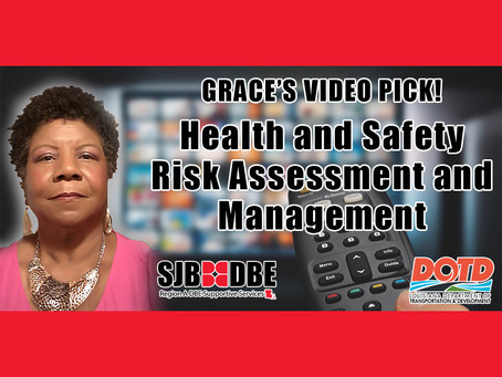 Grace's Video Pick: Health and Safety Risk Assessment and Management