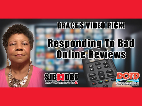 Grace's Video Pick: Responding to Bad Online Reviews