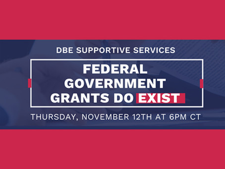 Webinar: Federal Government Grants Do Exist