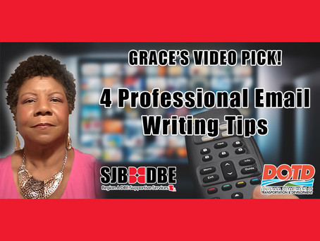 Grace's Video Pick: 4 Professional Email Writing Tips