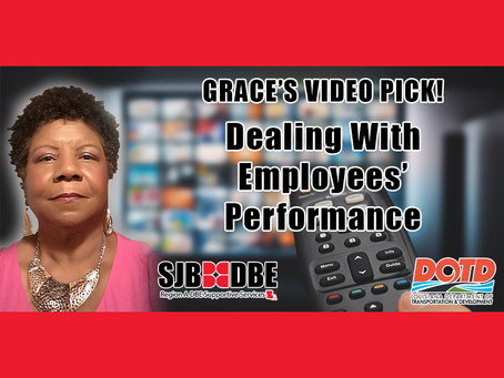 Grace's Video Pick: Performance Management–Dealing With Employees' Performance Problems