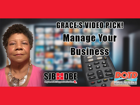 Grace's Video Pick: Manage Your Business