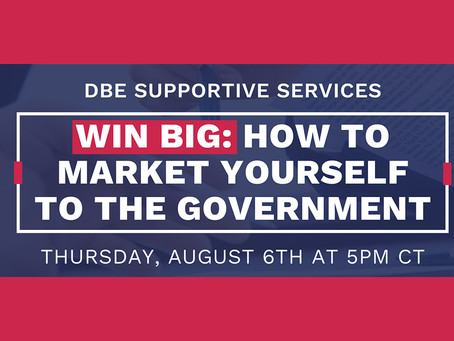 Did You Miss our Webinar How to Market Yourself to the Government?