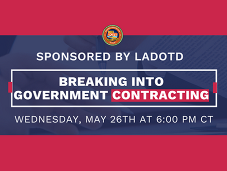 """Did you miss our """"Breaking into Government Contracting"""" Webinar?"""