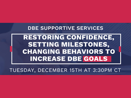Did you miss our webinar on increasing DBE goals?