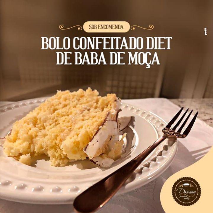 Experimente o Bolo Confeitado Diet de Ba