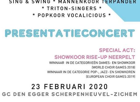 Presentatieconcert World Choir Games - 23/02