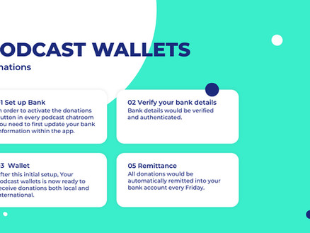 New PodRoom Feature: Accepting Donations with Podcast Wallets