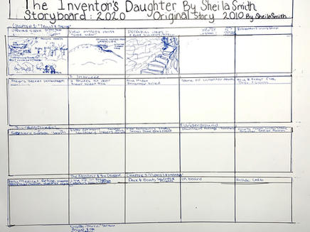 """Early Storyboard """"The Inventor's Daughter"""""""