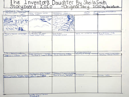 "Early Storyboard ""The Inventor's Daughter"""