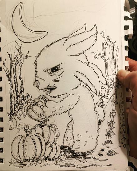 Inktober Pumpkins