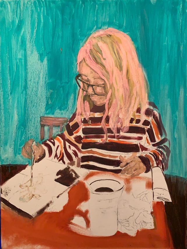 "Protagonist Pupil, 2021. Oil on canvas 24x18"""