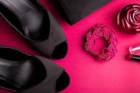 fashion-woman-accessories-set-black-shoe